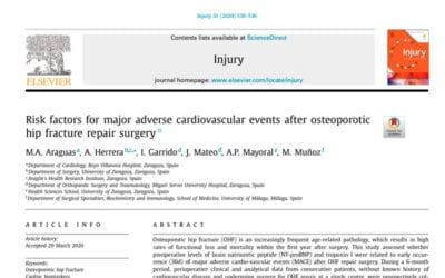 Publicación del Dr. Isaías Garrido en la prestigiosa revista Injury