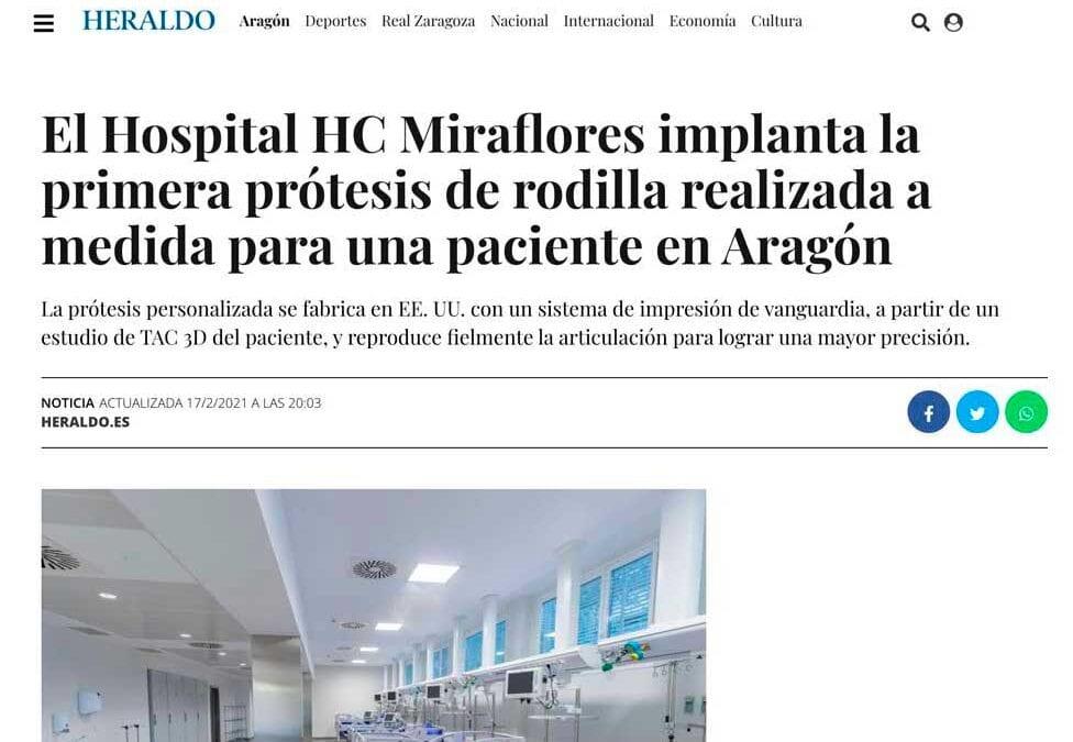 El Dr. Javier Muñoz Marín implanta la primera prótesis de rodilla personalizada en Aragón