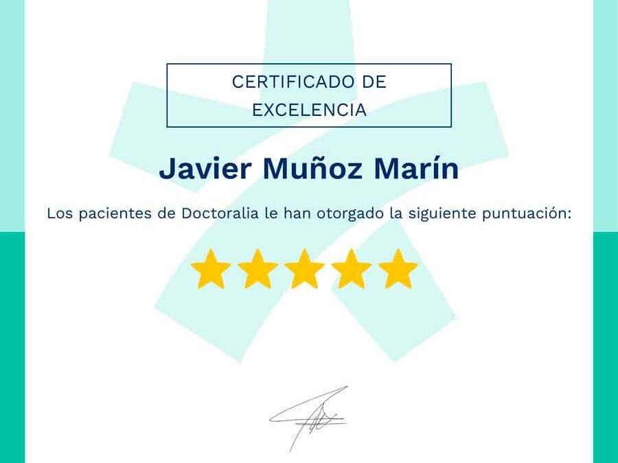El Dr. Javier Muñoz Marín vuelve a recibir la distinción de excelencia por Doctoralia