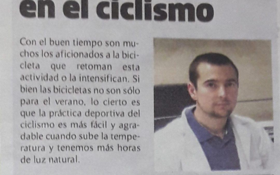 Lesiones en el ciclismo, por el Dr. Isaías Garrido. Diario Marca